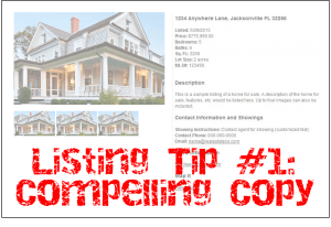 Listing Tip #1: Make Your Description Compelling
