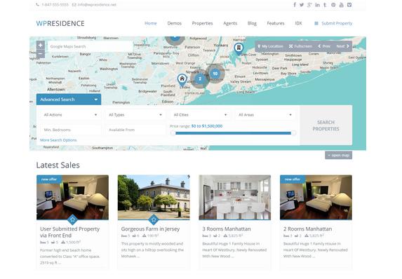 WPResidence - WordPress Real Estate Theme